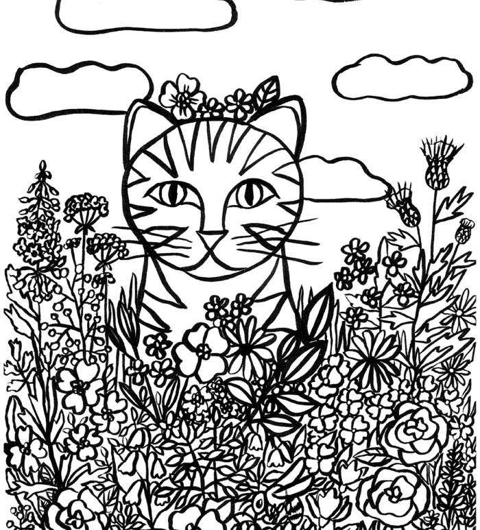 coloriage chat louisamouche 0